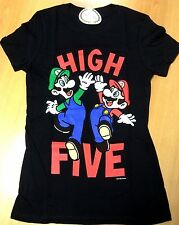 Nintendo Mario Licensed High Five Screen Printed T-Shirt - Womens Size X Large