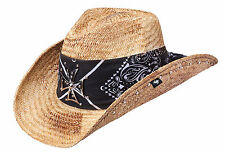 Peter Grimm Hollis Shapeable Straw Western Hat with Maltese Cross PGD5099-BRN