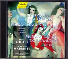 Garrick OHLSSON & Neville MARRIER: GRIEG Piano Concerto Symphonic Dances Wedding