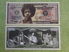 1970s Great JIMI HENDRIX Guitar Rock Star ~*~ $1,000,000 One Million Dollar Bill