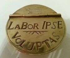 Vintage Brass Snuff Box Historic Charleston Reproduction - Labor Ipse Voluptas