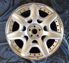 "20"" BENTLEY MULLINER 2 PC WHEEL SILVER W/POLISHED LIP RECONDITIONED"