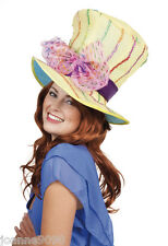 Mad Hatter Tea Party 70s Hippie Hippy Fancy Dress Costume Easter Bonnet Top Hat
