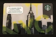 2015 for 2016 New York City NYC Skyline Starbucks Card - Empire State Building