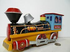 Vintage MODERN TOYS Japan Bell Ringer Loco Steam Engine Tin Toy Train Litho !!!