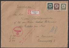GERMANY, 1944. Cover Officials 136,137,147, Hannover