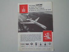 advertising Pubblicità 1964 LUCAS (JOSEPH) -  BIRMINGHAM & LONDON
