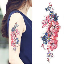 Women Waterproof Temporary Fake Tattoo Sticker Peach Blossom Arm DIY Decals