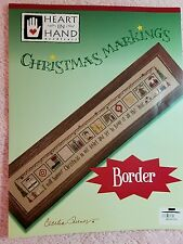 Heart in Hand Cross Stitch Christmas Markings Border with 12 Charts