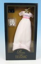 "NRFB Franklin Mint Titanic Rose 16"" Doll White SWIM Ensemble Dress Outfit Pink"