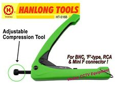 Adjustable Compression Crimping Tool for CCTV or TV Video RG-6 RG-59 & BNC F RCA