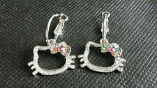 HELLO KITTY MULTICOLOR BOW LEVERBACK EARRINGS