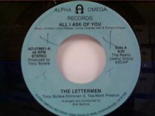 "LETTERMEN ""ALL I ASK OF YOU / WHY I LOVE HER"" 45"