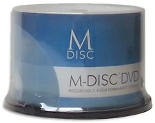 M-Disc 1000-Year Archival =White Inkjet= 4.7GB DVD+R, Engraved in Stone 50-Pak