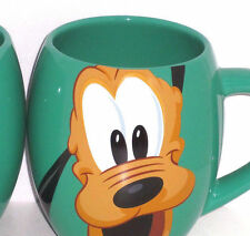 Disney Pluto Coffee Mug Cup Woof! Green Theme Parks New