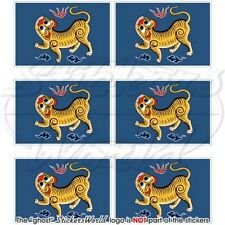 FORMOSA Flagge TAIWAN Fahne Republik China Handy Mini-Aufkleber, Sticker 40mm x6