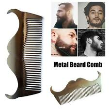 Stainless Steel Beard Mustache Comb Metal Pocket Comb No Static Small Hair Brush
