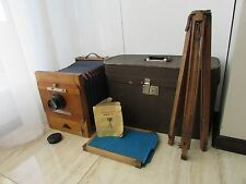Soviet Vintage FKD 18x24 wooden large format camera w/ I-51 4.5/300mm lens !