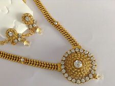 Bollywood fashion jewellery gold tone new design necklace set with earring 18''