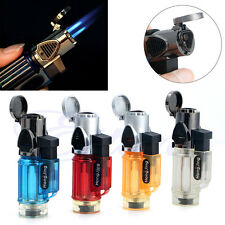 New Jet Flame Refillable Butane Gas Cigarette Cigar Windproof Trip Torch Lighter