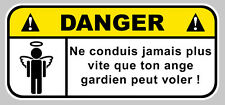 DANGER ANGE GARDIEN FUN DRIFT JDM AUTOCOLLANT STICKER 120mmX55mm  (DA134)