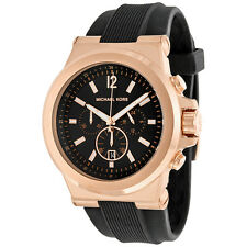 Michael Kors Black Rubber Chronograph Mens Watch MK8184