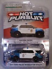 GREENLIGHT 1:64 DIECAST RALEIGH NC BLUE & WHITE 2014 FORD POLICE UTILITY VEHICLE
