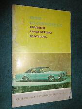 1966 OLDSMOBILE 442 F-85 CUTLASS OWNER'S MANUAL /GOOD ORIGINAL GUIDE BOOK