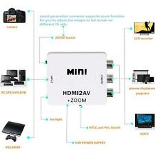 MINI HDMI TO AV - Composite CVBS Audio Video Converter Adapter 1080P HDMI2AV
