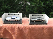 Lot Of 2  Rail King 69 Pontiac Firebird Trans Am & 68 Shelby Mustang~1:43 Scale