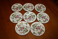 "8 Vintage Wedgwood Bone China Charnwood 6"" Bread & Butter Plates WD3984 Urn Mark"