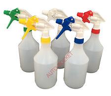 5 x Trigger Spray Bottles 750ml, Valeting, Hydroponics, chemical resistant heads
