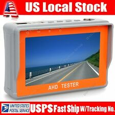 "Protable 4.3"" LTPS LCD 1080P CCTV Camera Display AHD Monitor Tester 12V-Output"