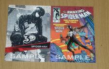 2015 Marvel Upper Deck 3D sample promo lenticular card SPIDER-MAN 2-card lot