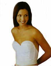 LADIES SIZE 42 B STRAPLESS WHITE LONGLONE BRA WITH LOW BACK NWT