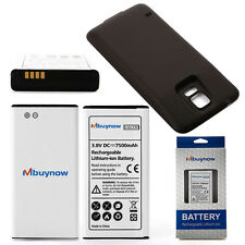 7500mAh Extended Battery for Samsung Galaxy S5 SM-G900 GT-i9600+Black Case Cover