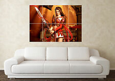 Large Fantasy Warrier Sword Myth Gothic Magic Wall Poster Art Picture Print