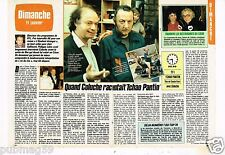Coupure de presse Clipping 1987 (2 pages) Quand Coluche racontait Tchao Pantin
