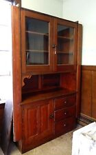 Antique Buffet Victorian Sideboard, Built In Buffet Cabinets, Oak Hutch, Salvage