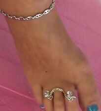 Toe rings Sterling Silver .925 Made in the USA quality sexy feet chains Adoarble