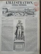 L'ILLUSTRATION 1851 N 433  STATUE DE SIMEON- DENIS POISSON, MATHEMATICIEN.