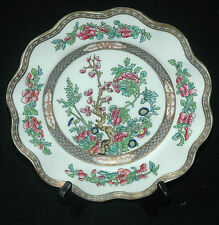 "COALPORT LUNCHEON SALAD PLATE 8 7/8"" INDIAN TREE MULTICOLOR SCALLOPED PATTERN"