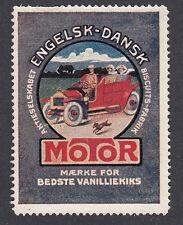Denmark Poster Stamp  DOG RUNS BESIDE THE CAR