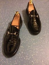 Men's Gucci Black Patent Leather Horsebit Loafers UK 9.5 EU 43.5 E US 10.5 £400+