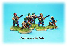 "French & INDIAN WAR-coureurs DE BOIS ""X 6"