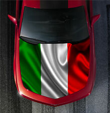 H57 ITALY ITALIAN FLAG Hood Wrap Wraps Decal Sticker Tint Vinyl Image Graphic