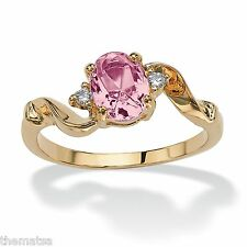 WOMENS 14K GOLD PLATED CRYSTAL  BIRTHSTONE ALEXANDRITE RING SIZE  5 6 7 8 9 10