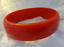 BAKELITE Bangle Bracelet PAPRIKA BRICK Red RARE OvAL Shape Retro VTg TESTED