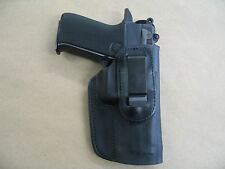 S&W 5900, 5904, 910, 915 IWB Leather In Waistband Concealed Carry Holster BLK RH