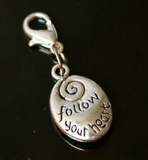 Follow Your Heart Love Eternal SPIRAL Clip on Charm Jewish Amulet